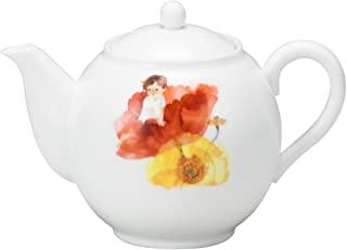 NARUMI 鸣海 茶壶 岩崎千寻 花朵中的小孩 图案 330cc(约330毫升) 日本制造 52081-4515 红色