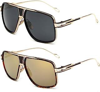 Gobiger 飞行员太阳镜 男式 * 防紫外线护目镜合金镜框带手机壳