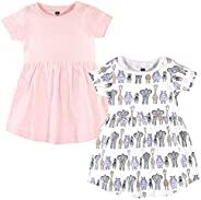 Hudson 女婴连衣裙2件装,粉红色海岸蓝