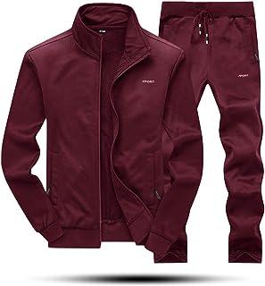 MAGNIVIT 男式运动服套装全拉链长袖慢跑跑步运动套装