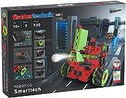 fischertechnik Robotics Smarttech 工具套件,配有酷炫的Omniwheels - 9 个令人兴奋的机器人模型,用于建筑和编程,适合 10 岁以上儿童
