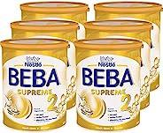 Nestlé 雀巢 BEBA SUPREME 嬰兒奶粉 2段(適用于6月以上兒童),哺乳喂養后續奶粉,6罐裝(6 x 800g)