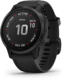 Garmin 佳明 fenix 6 GPS 多功能智能手表 手腕处心率测量 黑色/黑色 S