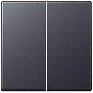 Jung Wippe 断路器防断路器,串连开关和双键系列 A 煤黑色哑光,1 件,A 595 BF ANM
