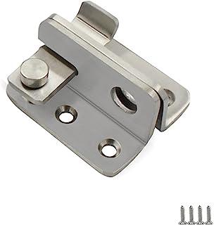AWOCAN 不锈钢超厚翻盖门闩锁滑动螺栓闩锁*门锁拉丝表面(银色)