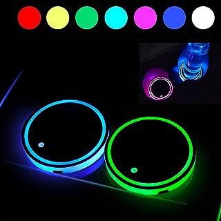 Coolsport 汽车杯架插入 LED 杯架 2 件杯垫垫杯垫杯垫室内装饰灯汽车配件
