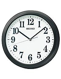 Seiko 精工 掛鐘 01:黑色 金屬機身 尺寸:直徑28×4.8 cm 無線電波模擬 緊湊尺寸 BC404K