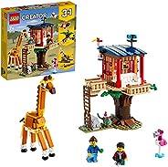 LEGO 乐高 31116 Creator 3 合 1 野生动物树屋、双体船、飞机玩具、积木套装带船、飞机和玩具狮子