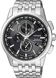 Citizen 西铁城 男士腕表 电波校准记时 石英 不锈钢 AT8110-61E