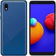 三星 Galaxy A01 Core A013G/DS,4G LTE,国际版(无美国),16GB,蓝色 - GSM 无锁(T-Mobile,AT&T,Metro) - 64GB SD + 快速车载充