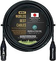 50 英尺 - 平衡麦克风电缆由 WORLDS BEST CABLES 定制 - 使用 Mogami 2549 (黑色)电线和 Neutrik NC3MXX-B 和 NC3FXX-B 金色 XLR 插头