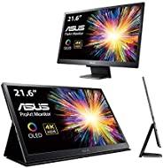 Asus ProArt PQ22UC 21.6 英寸 4K (3840 X 2160) HDR OLED 超薄便携式显示器 Delta E<2 0.1ms USB Type-C Micro HDMI Dolby V