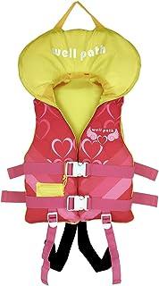 儿童游泳背心救生衣 – 儿童浮动学习游泳救生衣,浮力泳衣,紧急口哨和可调节*带
