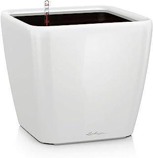 Lechuza 高级 Quadro 自动浇水圆形方形花盆 22 x 22 x 20.5 cm 白色 16120
