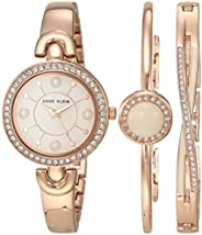Anne Klein Women's Swarovski Crystal Accented Watch and Bracelet