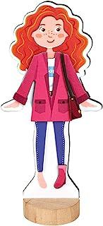 摩西 38073 玩具娃娃 | 适用于女孩的磁性玩具 | 带31件衣服和配件