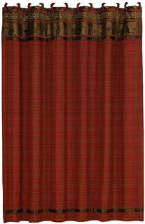 HiEnd Accents Cascade Lodge 浴帘 红色 Queen LG1845SC
