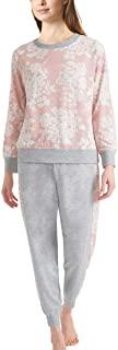 Splendid 女式长袖上衣和慢跑裤常规和加大码睡衣套装