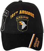 官方*美國** 101 號空載分部鳴鷹隊刺繡黑色可調節棒球帽