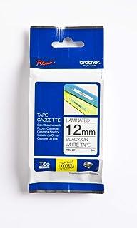 brother 兄弟 TZe-231标记胶带,12毫米(宽)x 8 米(长),已层压,原装耗材-白黑