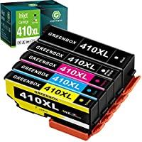 GREENBOX 再生墨盒替換件 適用于愛普生 410XL 410 XL T410XL Expression XP-640 XP-830 XP-7100 XP-530 XP-630 XP-635 (黑色,照片黑色,青色,品紅色,黃色)