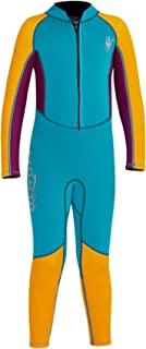 REWANGOING 青年男孩女孩儿童连体泳衣 2.5 毫米氯丁橡胶湿衣保暖泳衣长袖全潜水服适合水肺潜水游泳