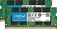 Crucial 英睿达 内存卡 CT2K16G4SFD8266 32 GB Kit (16 GB x 2)(DDR4、2666 MT / s,PC4-21300,双列x 8,SODIMM,260针)