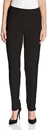 SLIM-SATION 女式弹性腰部斜纹修身裤腿西装裤,带 FRNT 斜口袋