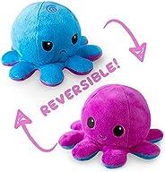 双面章鱼迷你毛绒玩具 紫/蓝