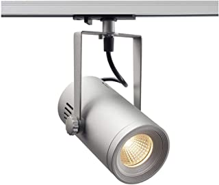 SLV 欧洲轨道聚光灯 3000 K 36° 包括 1P 适配器浅铝 11 W 灰色