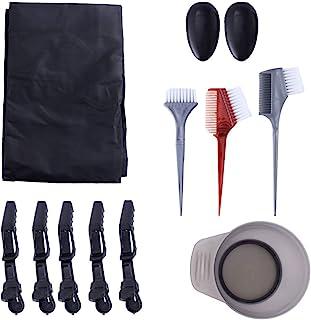 *刷和碗套装,12 件*刷混合碗耳罩理发斗篷*着色工具适用于沙龙使用