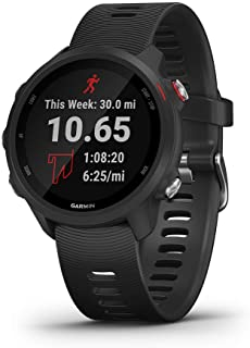 Garmin 010-02120-20 Forerunner 245 具有音乐和高级动态功能的GPS智能运动手表,黑色