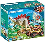 PLAYMOBIL® 探险车与剑龙积木组