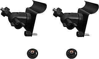 MANWU 乙烯基侧面安装夹钩适用于新闪烁户外Arlo 环*摄像头,侧挂架支架适用于 Blink XT 2,无孔(2 件装黑色)