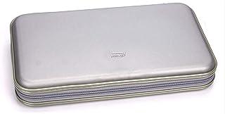 FatColo CD 收纳袋塑料80光盘 CD DVD 收纳袋收纳盒钱包袋相册(银色)