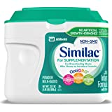 Similac 雅培 For Supplementation 婴幼儿配方奶粉,含铁,粉末,23.2 盎司(658g)(4…