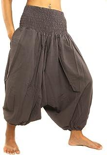 jing shop 3/5 长度哈伦 Aladdin 宽松裤均码棉