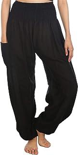 LOFBAZ 女式哈伦裤大象瑜伽波西米亚嬉皮孕妇睡衣服装 大象 6 *蓝 Medium