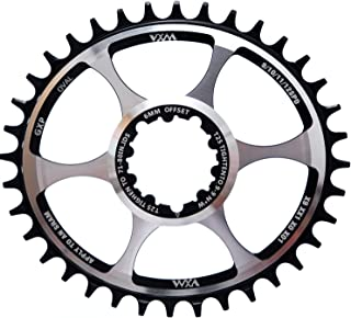 YBEKI 自行车链环 32T 34T 36T 偏移 3mm 6mm 椭圆形自行车链环 GXP 链轮适用于 NX XX XO GX GXP11 X1 直接安装曲柄组