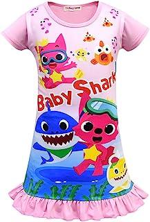 Baby Shark 女童睡衣 红色 粉色 紫色 睡衣 3-8 岁