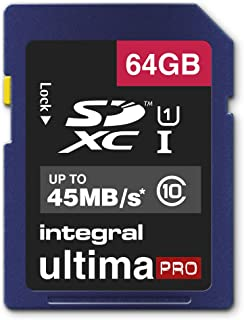Integral 16 GB Class 10 45 MBps UltimaPro SDHC 存储卡(简约包装)INSDX64G10-45 64 GB