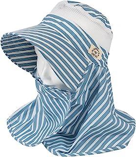丸和贸易 园艺帽 围脖 条纹 蓝色 女士均码 1003824-04