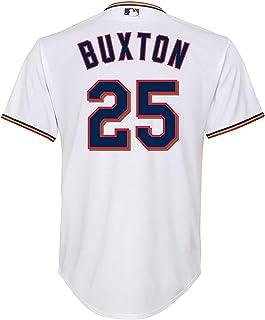 Byron Buxton 明尼苏达双城队白色儿童 4-7 Cool Base Home Player 球衣