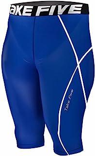 新款082skin 紧身裤压缩打底蓝色跑步短裤男式
