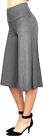 由 Johnny 女士高弹性腰带阔腿阔腿裤(S ~ 5XL 码) Wb876_hdg X-Small
