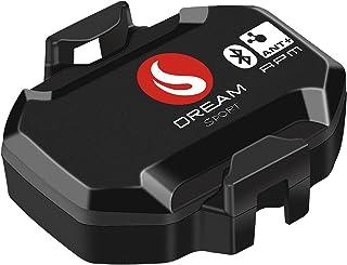 SKARLIE 节奏传感器适用于旋转自行车蓝牙 ANT+ RPM 节奏传感器兼容 GPS 自行车速度计和自行车应用