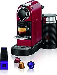 Krups 克鲁伯 Nespresso Citiz&Milk 胶囊咖啡机 XN7615(1260W,水箱容量:1l,泵压力:19 bar),红色