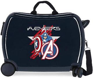 Marvel 漫威复仇者联盟儿童行李箱,蓝色,50 x 38 x 20厘米,坚固,ABS,侧面密码锁,34升,3千克,4个行李包