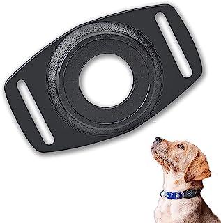 Sinstar 保护套适用于 Apple Tracker Airtag 狗项圈 1 件装硅胶保护套配件兼容航空标签支架狗项圈空气标签支架保护套兼容苹果 AirTag (黑色)