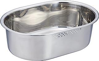 SUI 古特 椭圆形清洗桶 不锈钢 小 SUI-6050